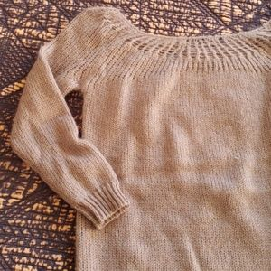 Nasty Gal grey boat neck mohair sweater, small